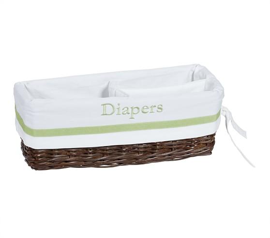 Green Harper Changing Table Basket Liner