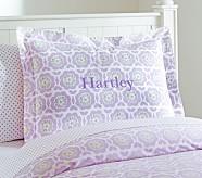 Vivian Standard Sham, Lavender/Gray