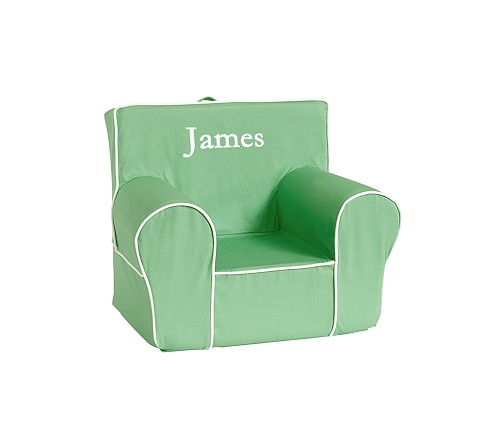 Kelly Green with White Piping Anywhere Chair Slipcover Only