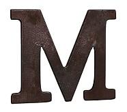 Faux Bronze Letter, M