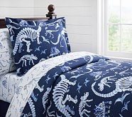 Blue Dino Duvet Cover, Twin
