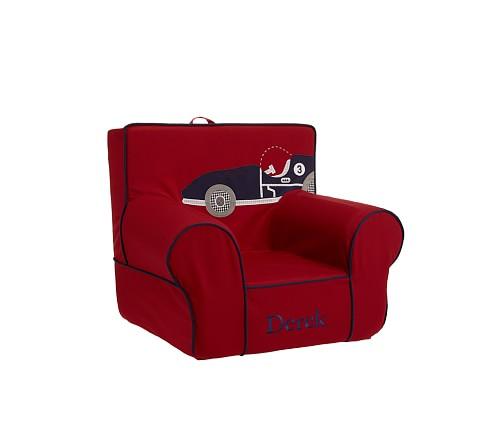 Anywhere Chair Slipcover, Race Car Applique
