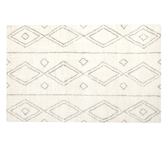 Delaney Rug, 3x5' Ivory/Gray