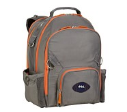 Fairfax Gray/Orange Large Backpack, Football