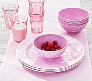Cambria Pink Plate, Set of 4
