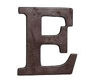 Faux Bronze Letter, E