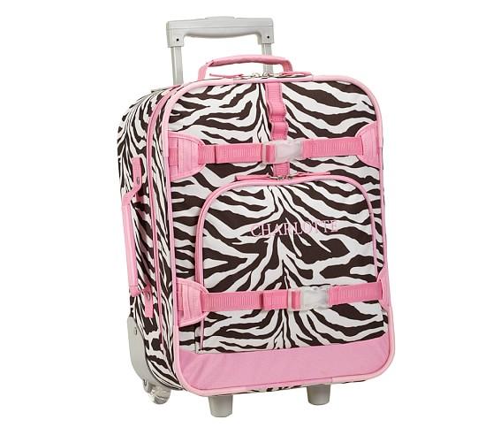 Mackenzie Chocolate Zebra Small Luggage