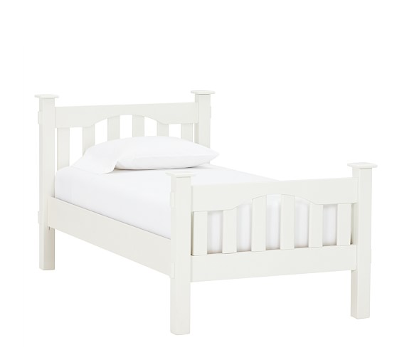 Kendall Bed, Twin, White