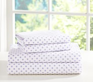 Mini Dot Pillowcase, Standard, Light Lavender
