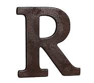Faux Bronze Letter, R