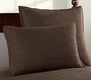 Seacliff Standard Quilted Sham, Brown