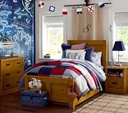 Emmett Bed & Dresser Set, Twin, Weathered Pine