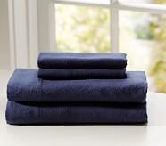 Flannel Standard Pillowcase, Navy