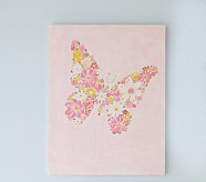 Butterfly Flower Plaque, Pink
