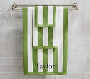 Rugby Stripe Wash Cloth, Green