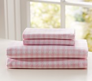 Buffalo Check Flannel Sheet Set, Twin, Pink