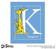 Dr. Seuss™ Alphabet Prints, Letter K, Blue, Kangaroo
