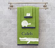 Alligator Wash Cloth, Green