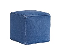 Anywhere Bean Cube Slipcover Only, Denim