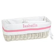 Pink Harper Changing Table Basket Liner