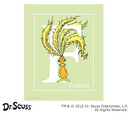 Dr. Seuss™ Alphabet Prints, Letter F, Light Green, Feathers