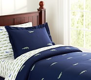 Gator Embroidered Duvet Cover, Twin