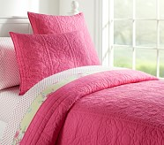 Whitney Quilt, Twin, Bright Pink