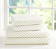 Mini Dot Toddler Sheet Set, Green