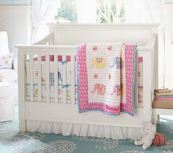 Vienna Elephant Nursery Bumper Bedding Set