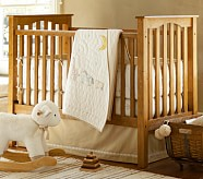 Leigh Nursery Quilt Bedding Set: Crib Fitted Sheet, Toddler Quilt & Crib Skirt