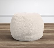 Cream Sherpa Anywhere Beanbag® Insert & Slipcover Set