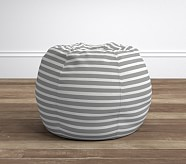 Breton Stripe Gray Anywhere Beanbag®