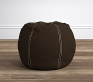 Chocolate with Khaki Stitch Anywhere Beanbag®