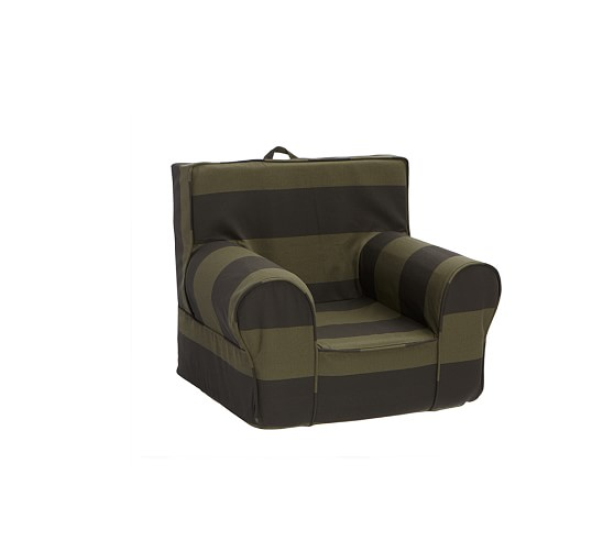 Olive/Chocolate Rugby Anywhere Chair® Slipcover Only