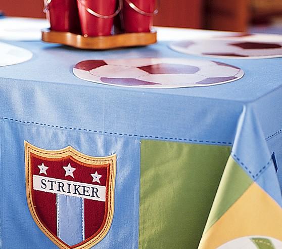 Soccer Vinyl Place Mats, Set of 4