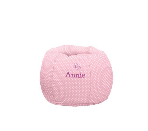 Regular Anywhere Beanbag Slipcover Only, Light Pink Mini Dot
