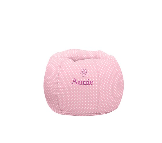 Regular Anywhere Beanbag Slipcover Only, Light Pink Mini Dot