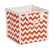 Tangerine Harper Chevron Pop Up Tote