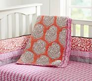 Lena Nursery Quilt Bedding Set: Toddler Quilt, Crib Skirt & Crib Fitted Sheet