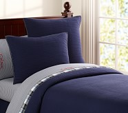 Kingston Twin Quilt, Navy