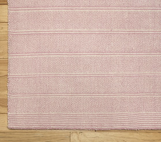 Pink Loomed Wool Rug Swatch