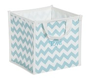 Aqua Harper Chevron Pop Up Tote