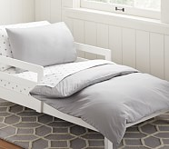 Organic Cotton Toddler Duvet Cover, Gray