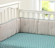 Feather Crib Fitted Sheet, Teal