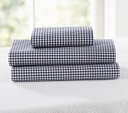 Gingham Toddler Pillowcase, Navy