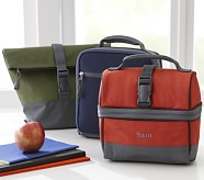 Peyton Roll Top Lunch Bag, Blue