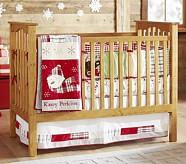 Nursery Quilt Bedding Set: Crib Fitted Sheet, Toddler Quilt & Crib Skirt