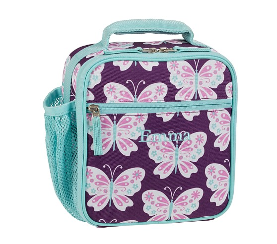 Mackenzie Plum Butterfly Classic Lunch Bag