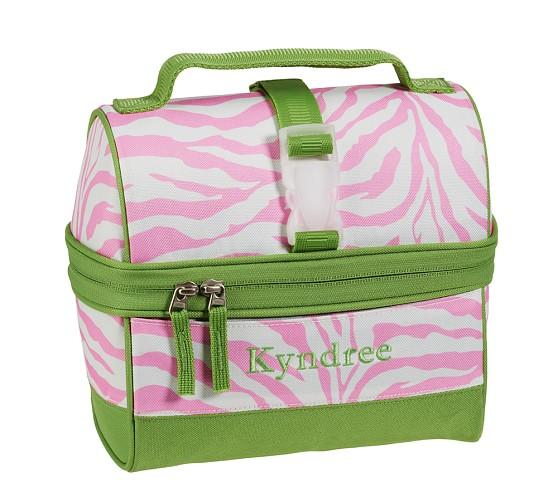 Mackenzie Pink Zebra Retro Lunch Bag