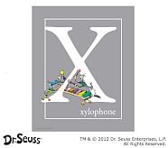 Dr. Seuss™ Alphabet Prints, Letter X, Grey, Xylophone